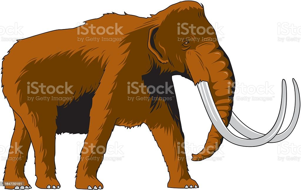Woolly Mammoth royalty-free stock vector art