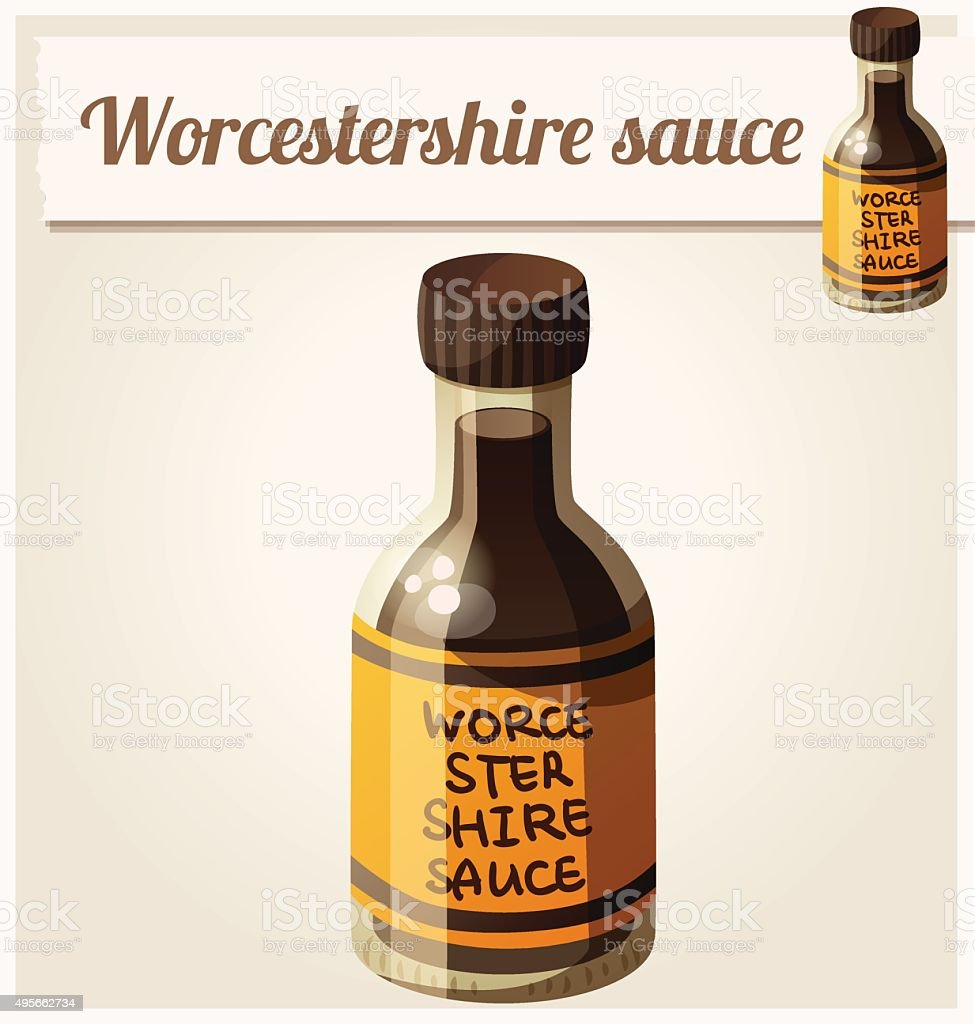 Worcestershire sauce. Detailed Vector Icon vector art illustration