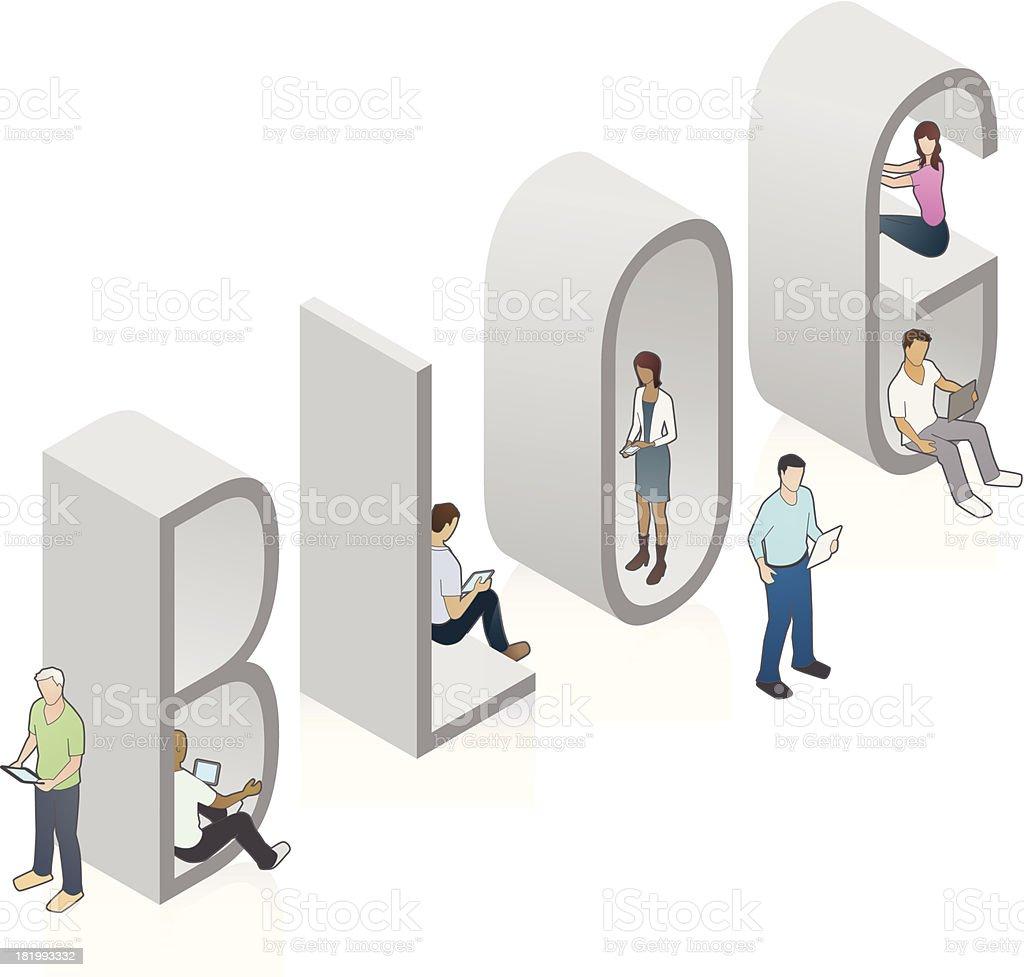 BLOG Word Art royalty-free stock vector art