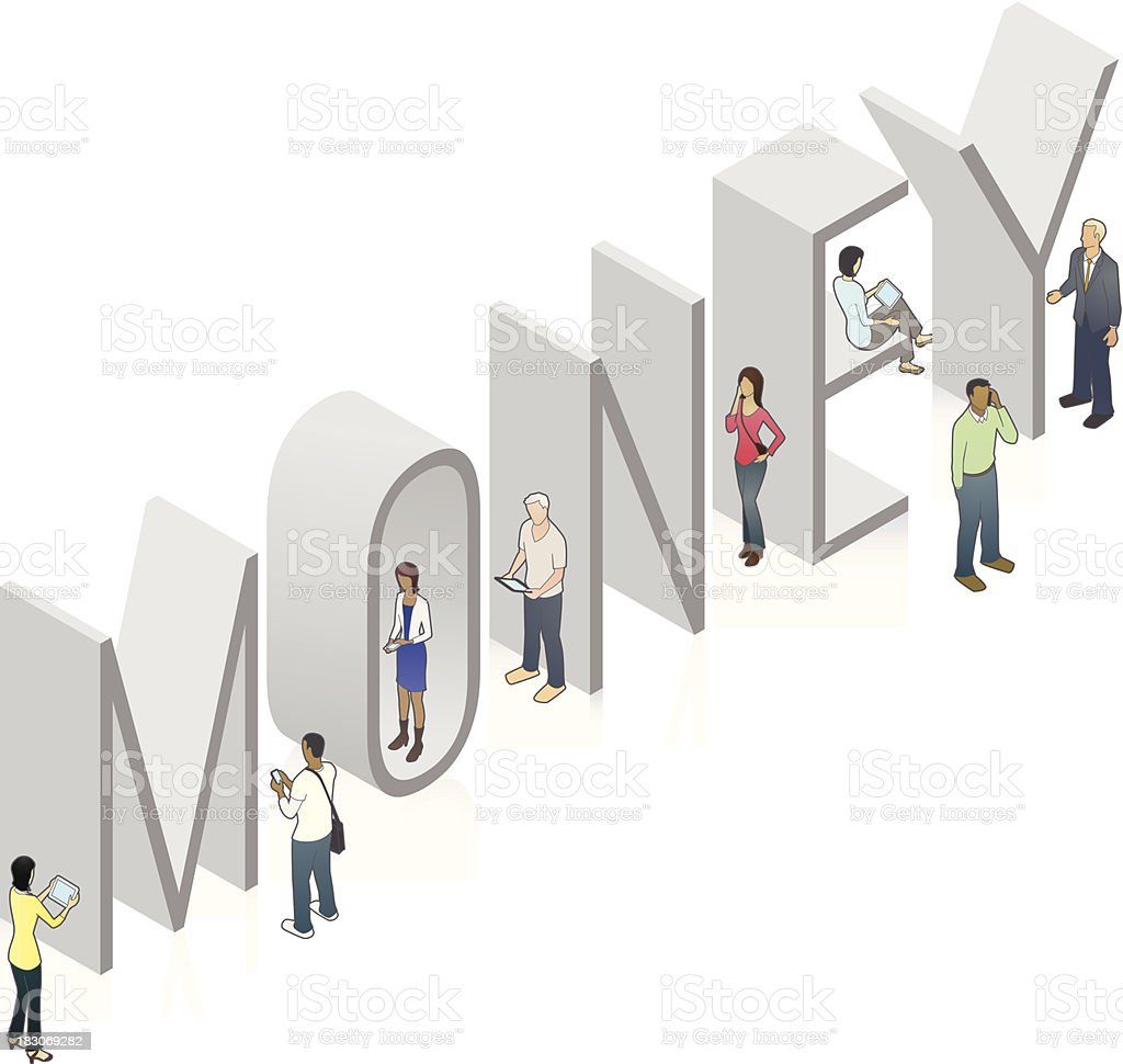MONEY Word Art royalty-free stock vector art
