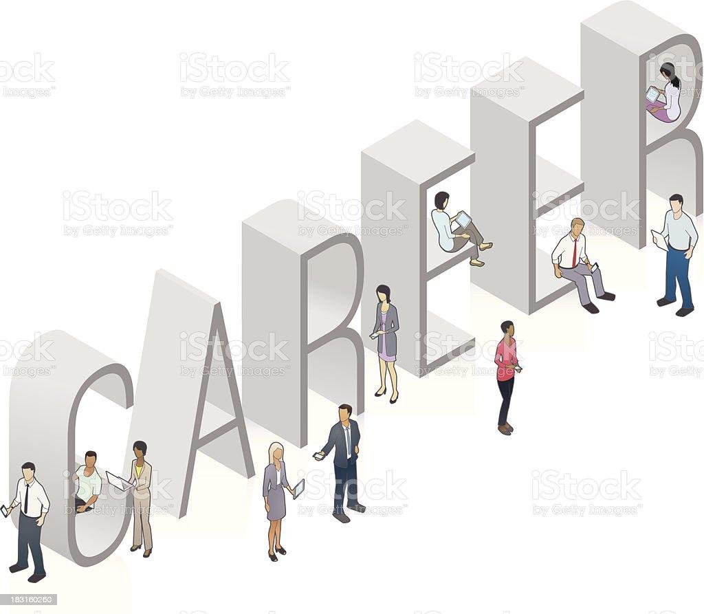 CAREER Word Art royalty-free stock vector art