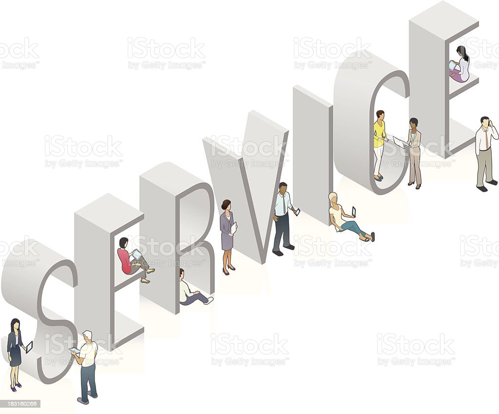SERVICE Word Art royalty-free stock vector art