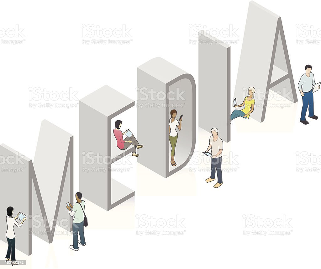 MEDIA Word Art royalty-free stock vector art