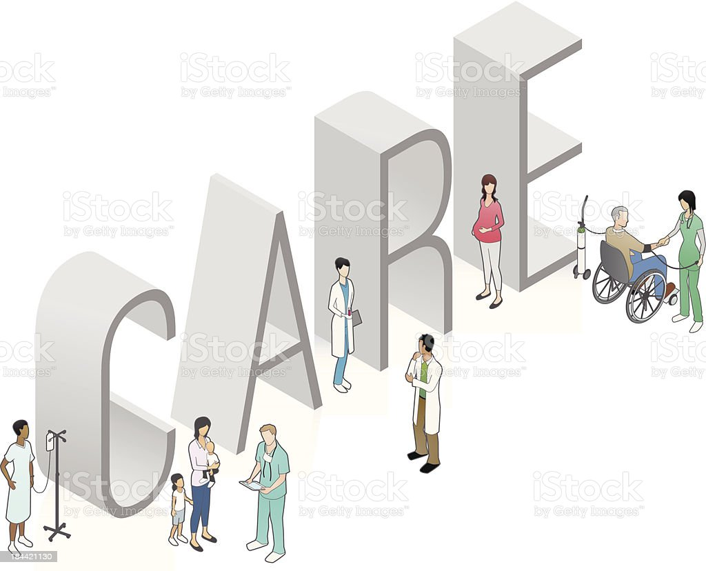 CARE Word Art royalty-free stock vector art