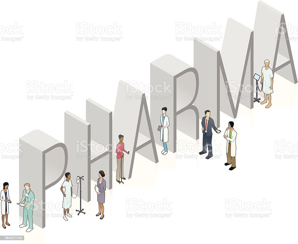 PHARMA Word Art royalty-free stock vector art