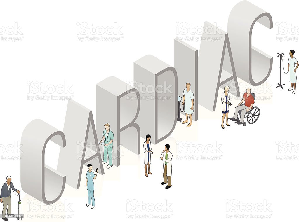 CARDIAC Word Art royalty-free stock vector art