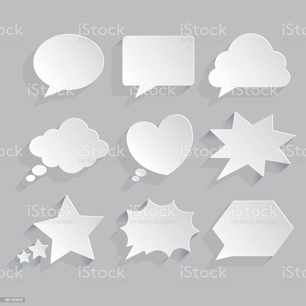 word bubble icons vector art illustration