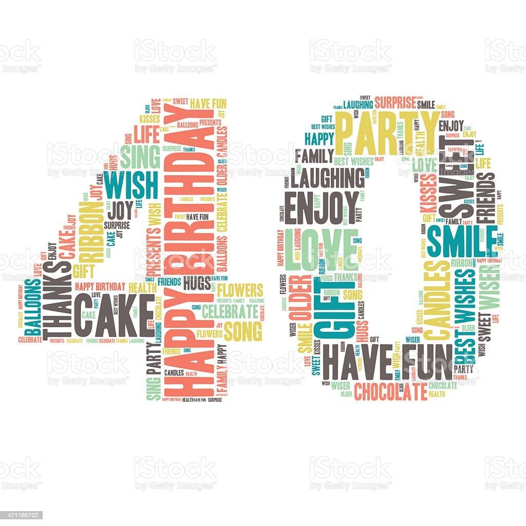 Word Cloud Happy Birthday Celebration 40 stock vector art ...