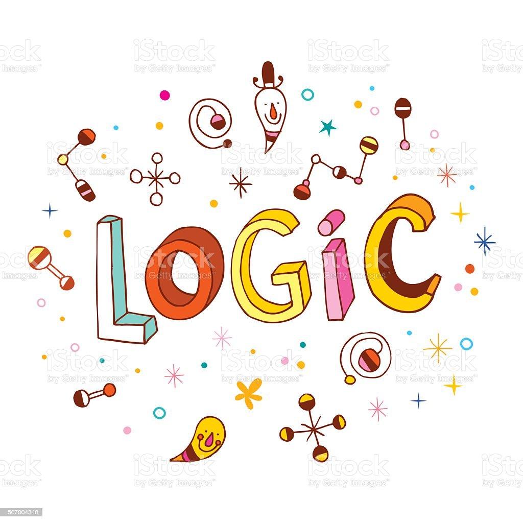 word Logic - hand lettering design vector art illustration