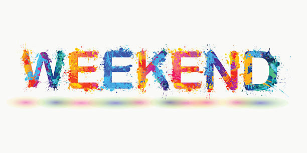 Weekend activities clip art vector images illustrations for Weekend art projects
