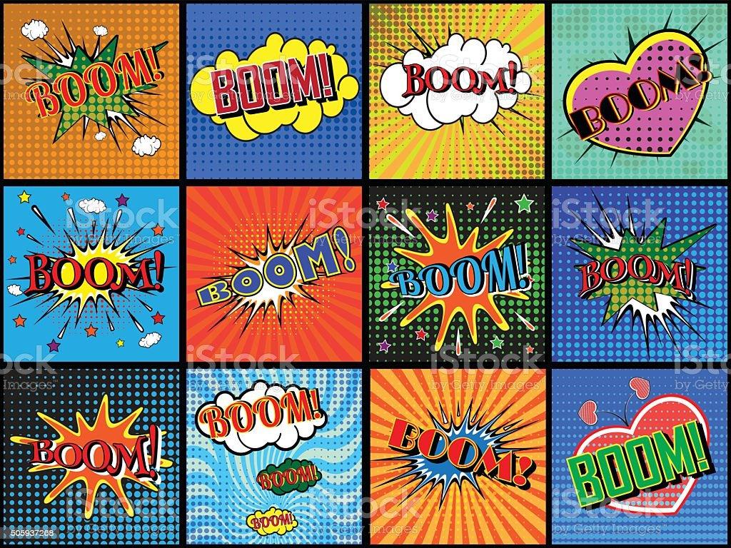 wording in comic speech vector art illustration