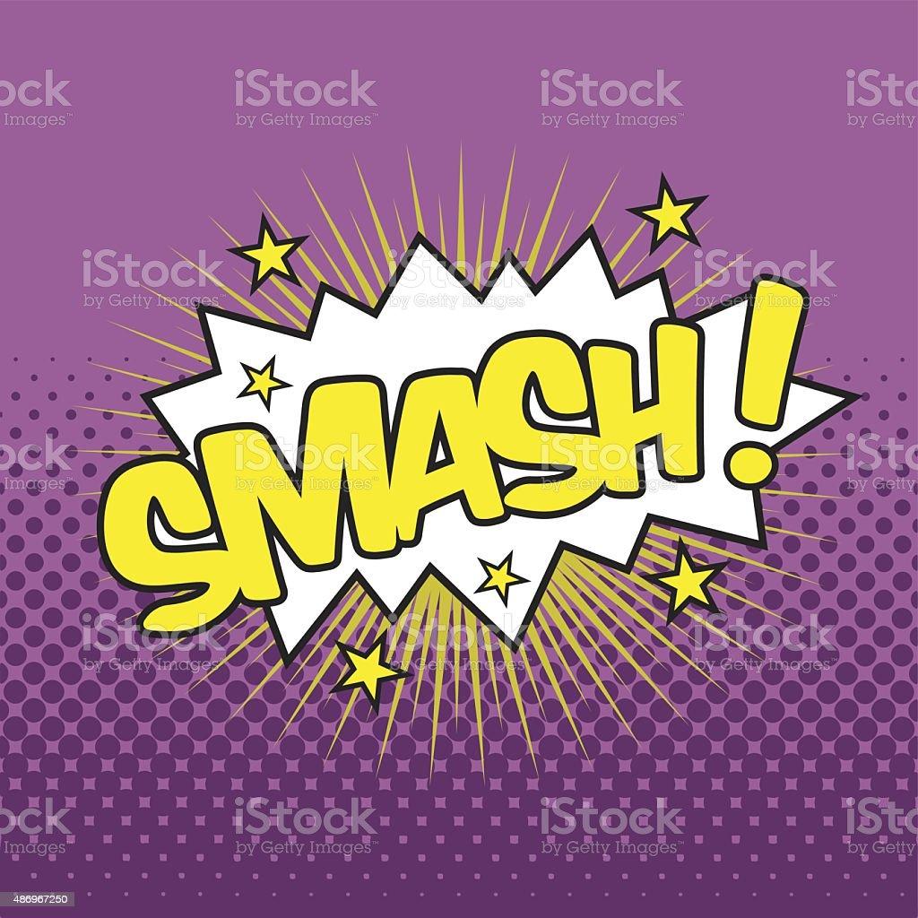 SMASH! Wording Sound Effect vector art illustration