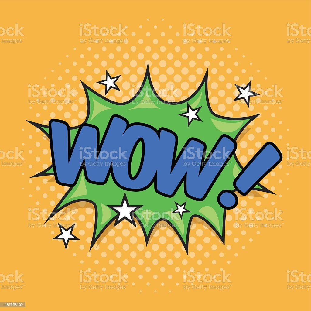 WOW! Wording Sound Effect vector art illustration