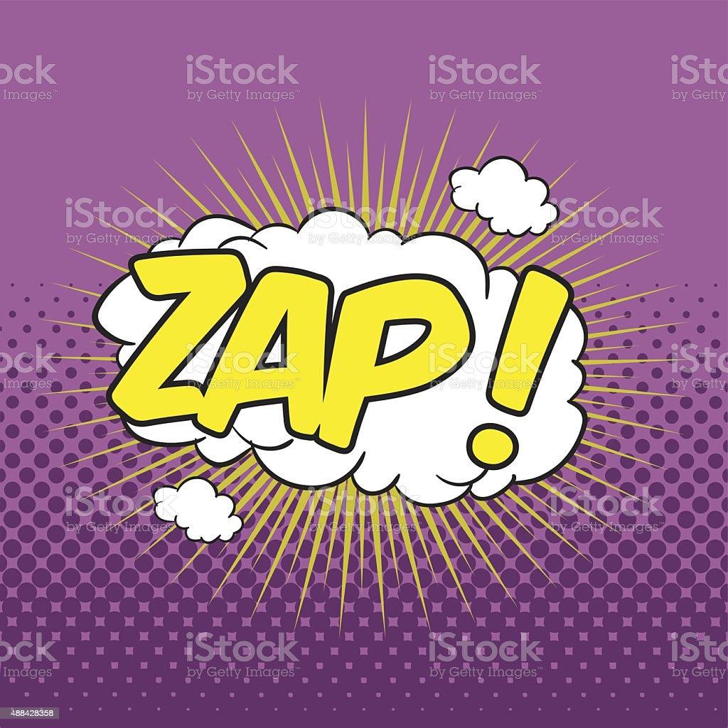 ZAP! Wording Sound Effect vector art illustration