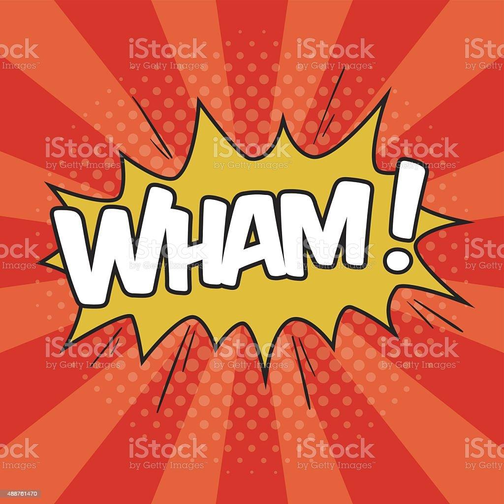 WHAM! Wording Sound Effect vector art illustration