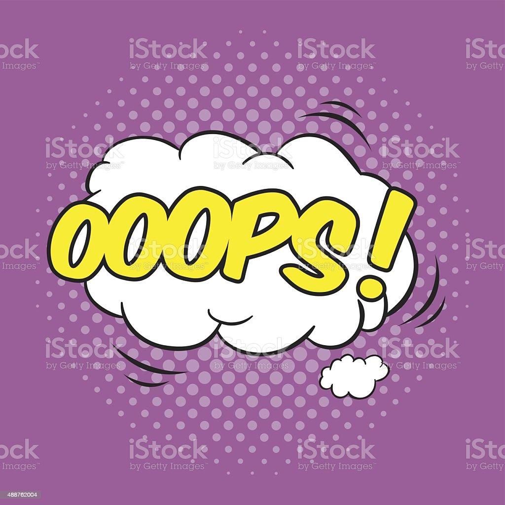 OOPS! Wording Sound Effect vector art illustration