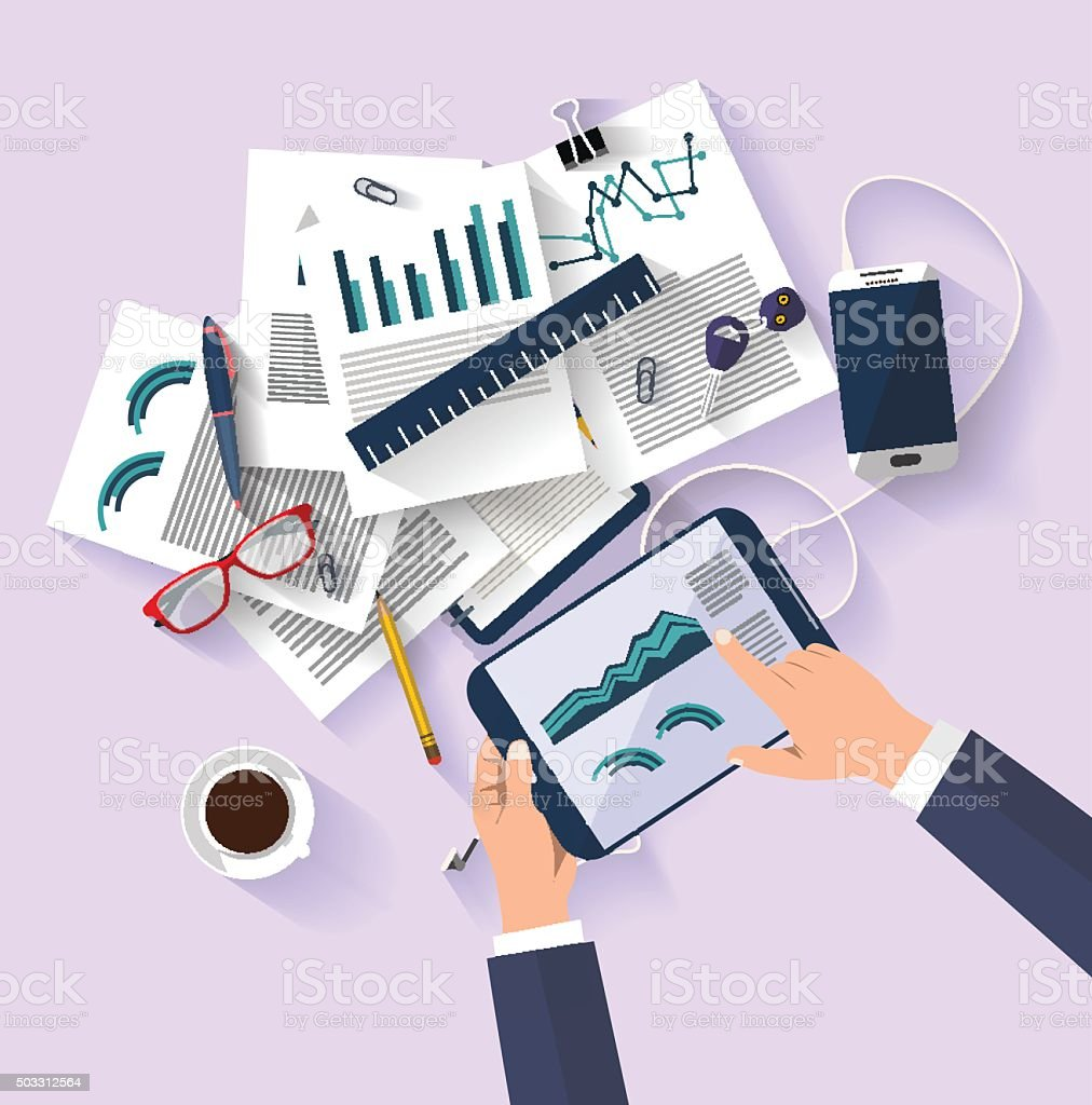 work concept - business concept - flat design vector art illustration