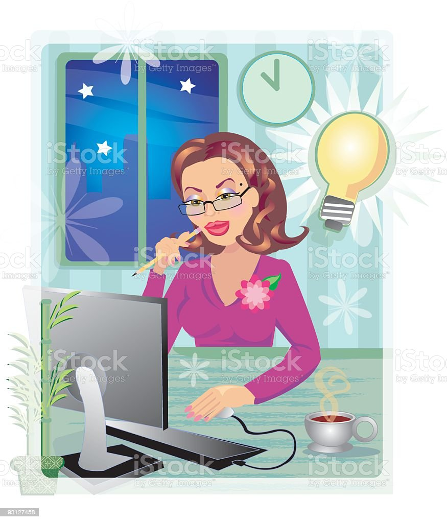 Work Deadline royalty-free stock vector art
