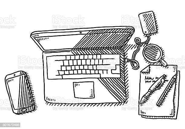 Free line drawing computer Images and Stock Photos