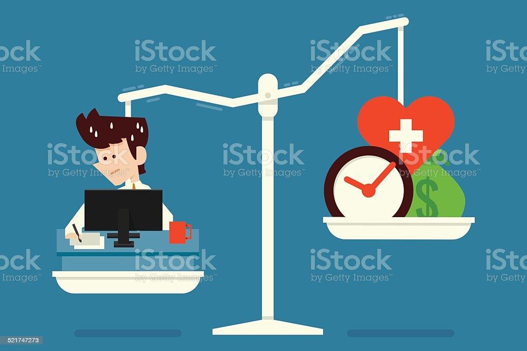 work for life vector art illustration