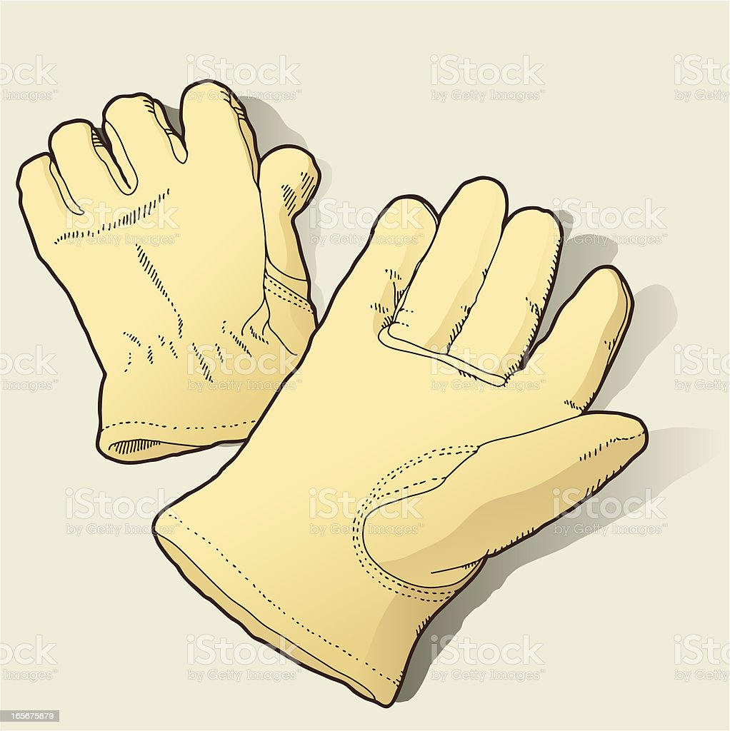 Work Gloves royalty-free stock vector art