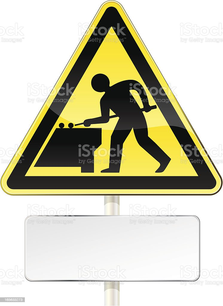 Work in progress sign, billiard. royalty-free stock vector art