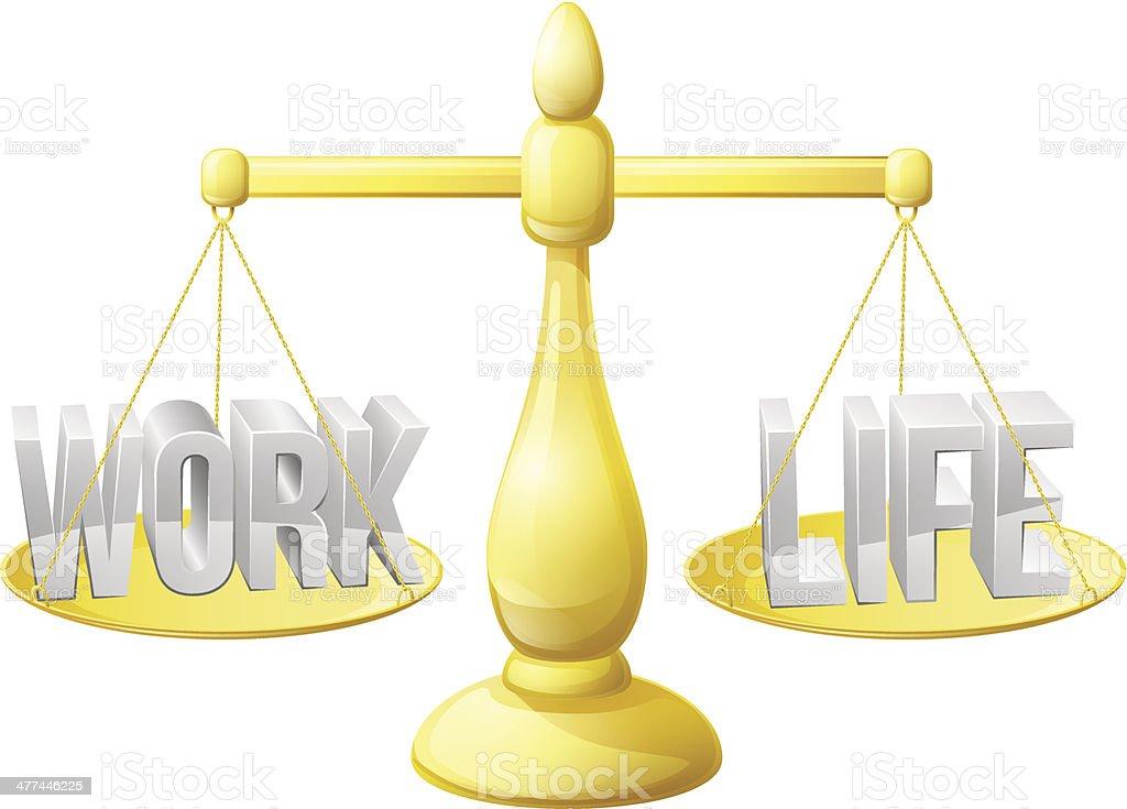 Work life balance scales royalty-free stock vector art