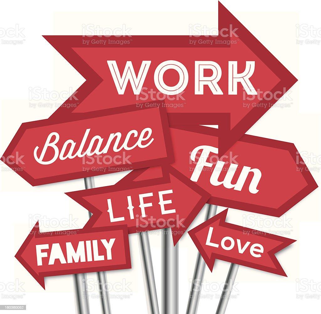 Work life balance vector art illustration