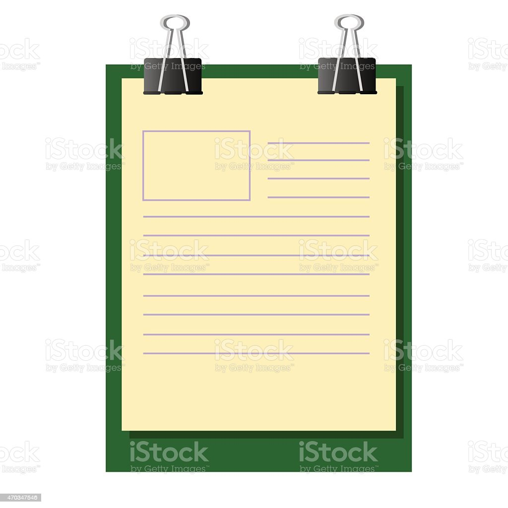 Work Paper on Exam Board vector art illustration