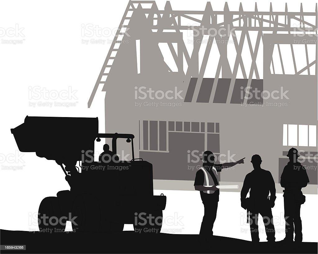 Work Planning Vector Silhouette vector art illustration