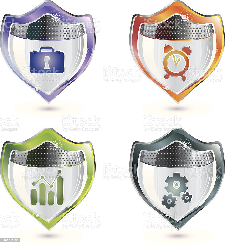 Work Security and Protecting Business Goals royalty-free stock vector art