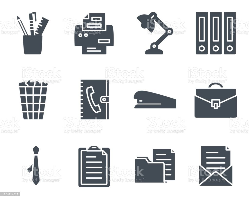 Work Service Silhouette Icon Office vector art illustration