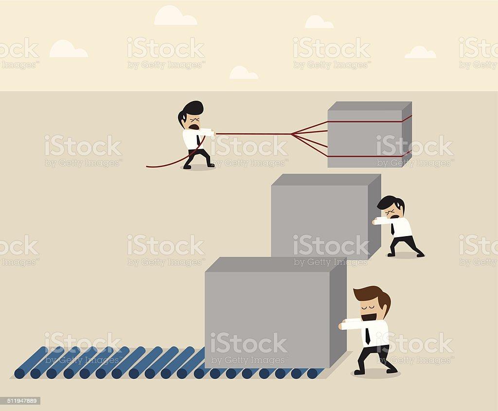 Work smart concept vector art illustration