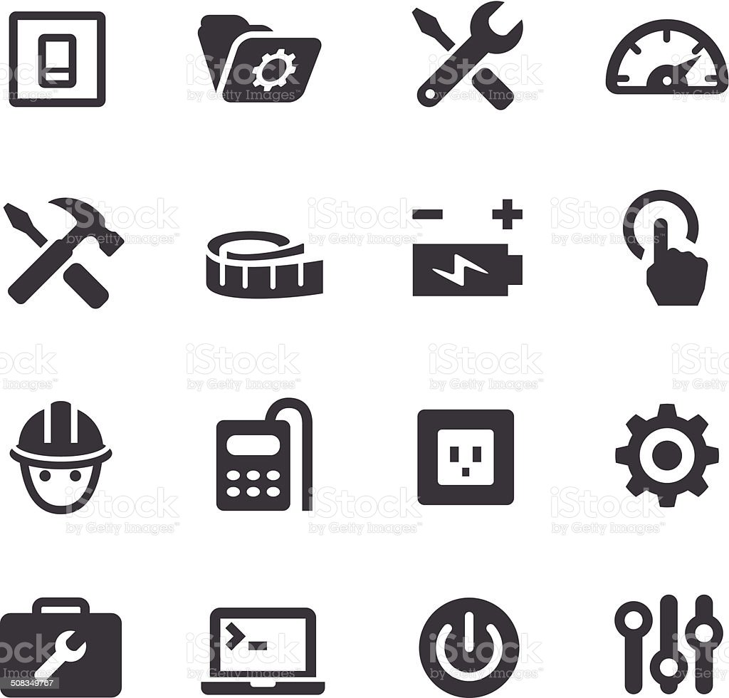 Work Tool Icons - Acme Series vector art illustration
