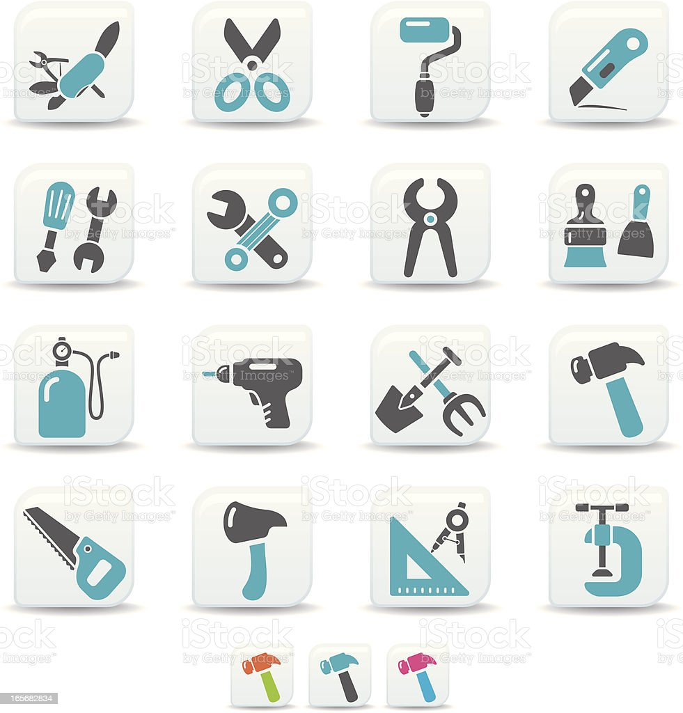 work tool icons | simicoso collection royalty-free stock vector art