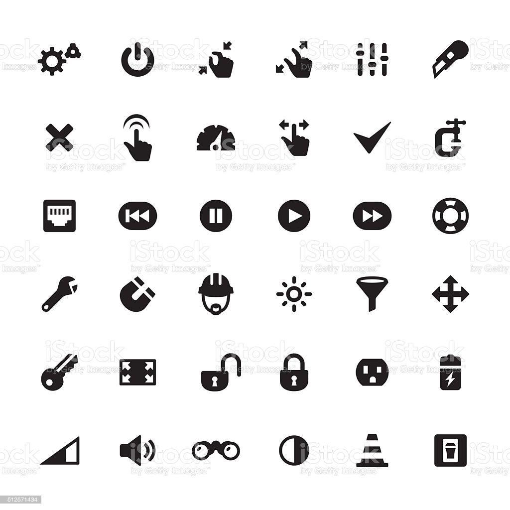 Work Tool vector icons vector art illustration