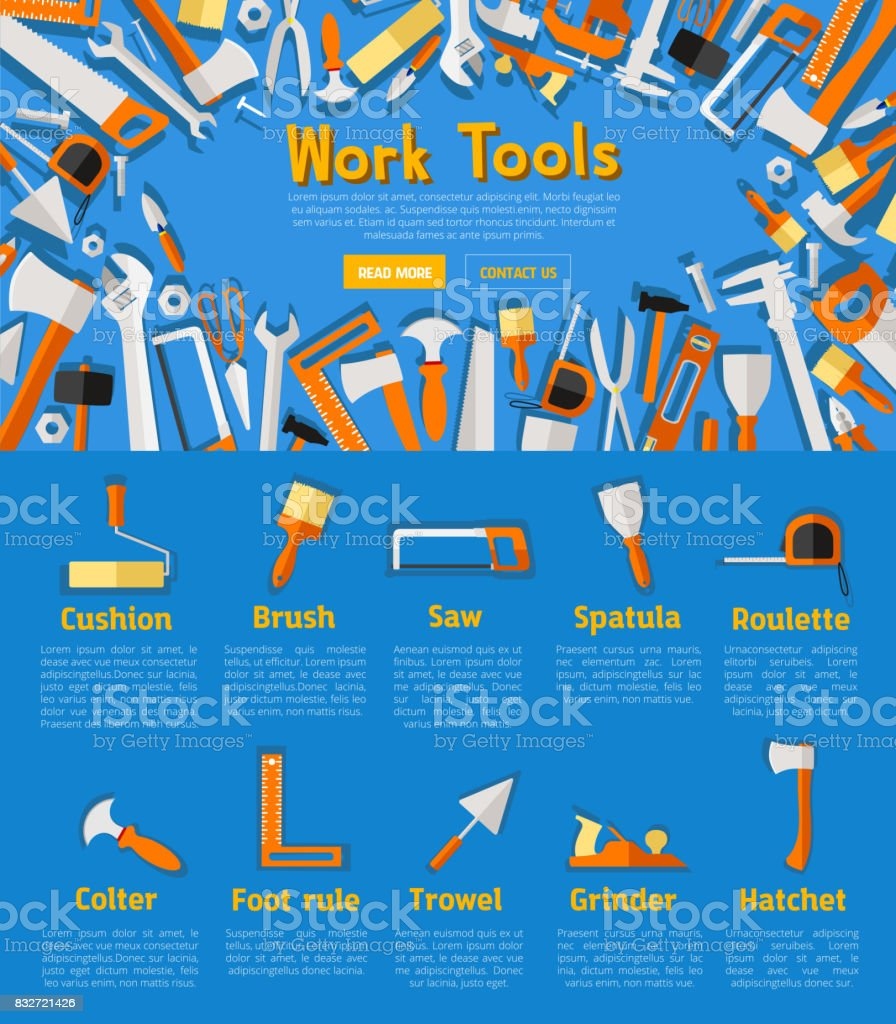 Poster design tools - Work Tools Poster For Hardware Store Design Royalty Free Stock Vector Art