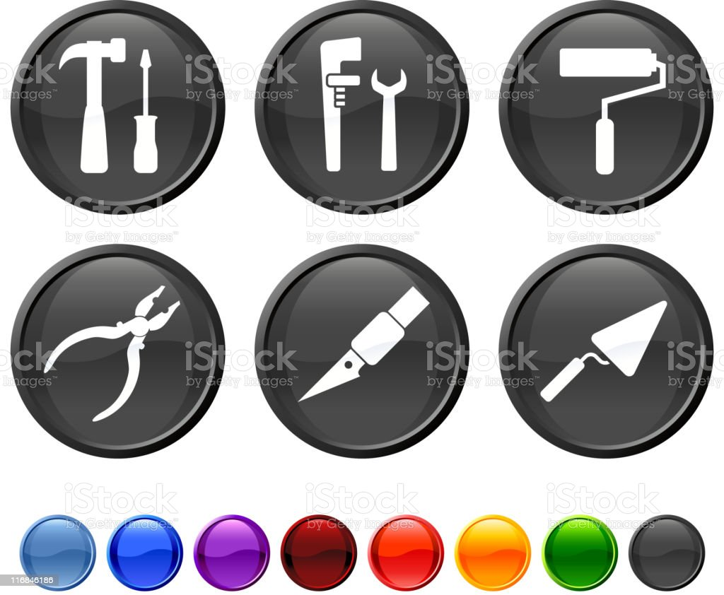 work tools royalty free vector icon set vector art illustration