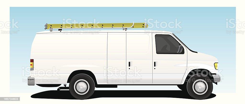 Work Van royalty-free stock vector art
