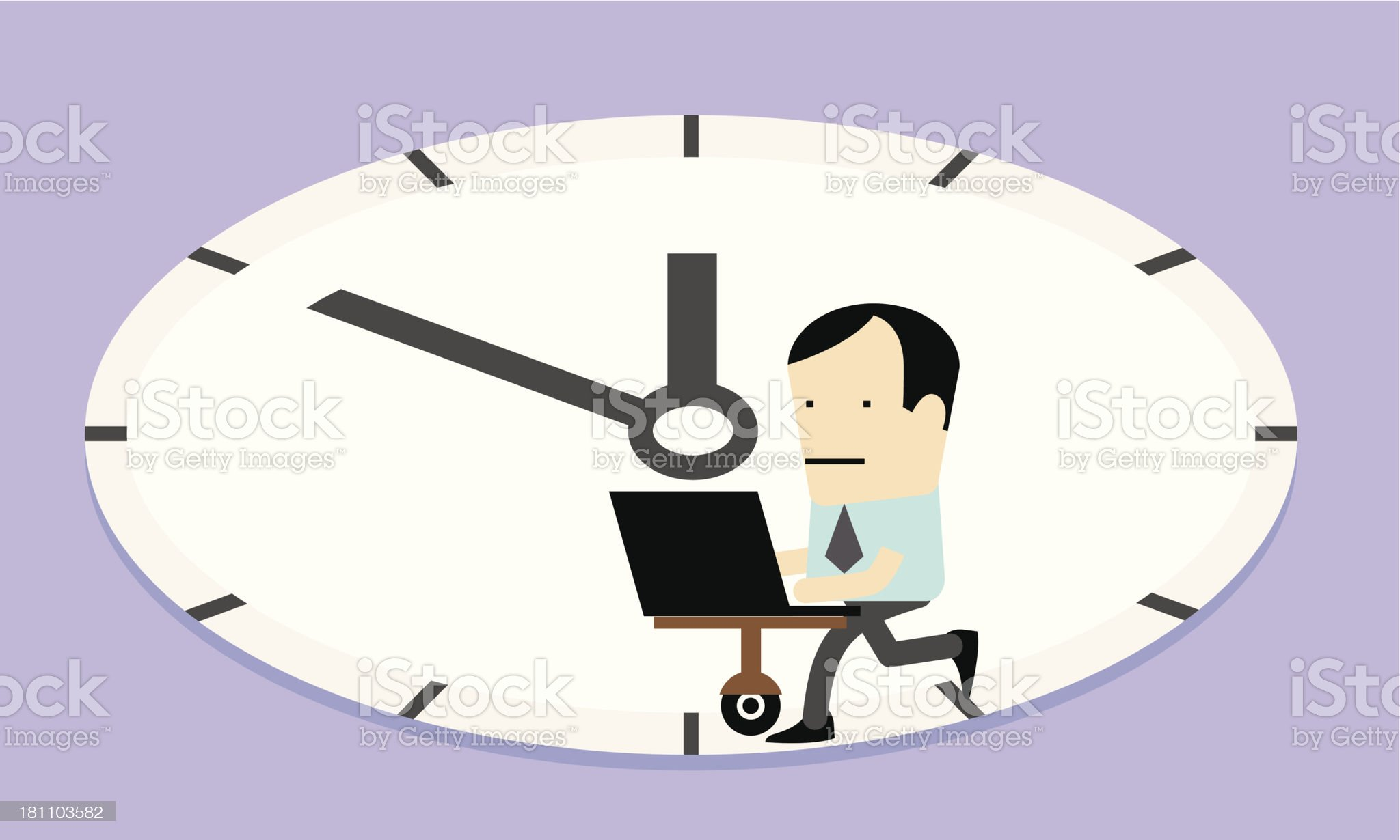 Workaholic; Nine to Five royalty-free stock vector art