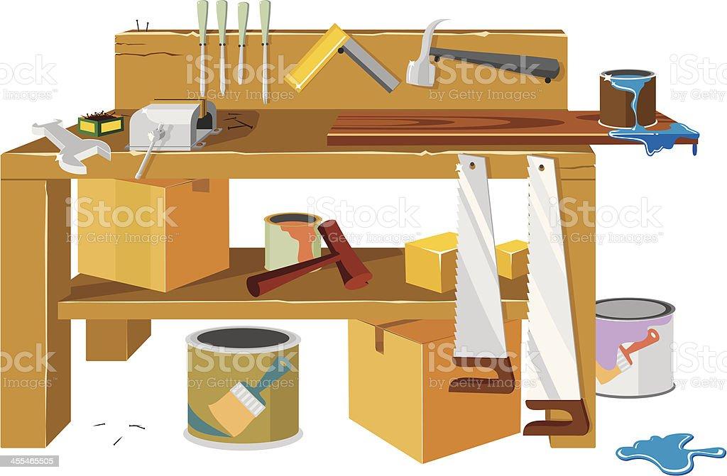 Workbench vector art illustration