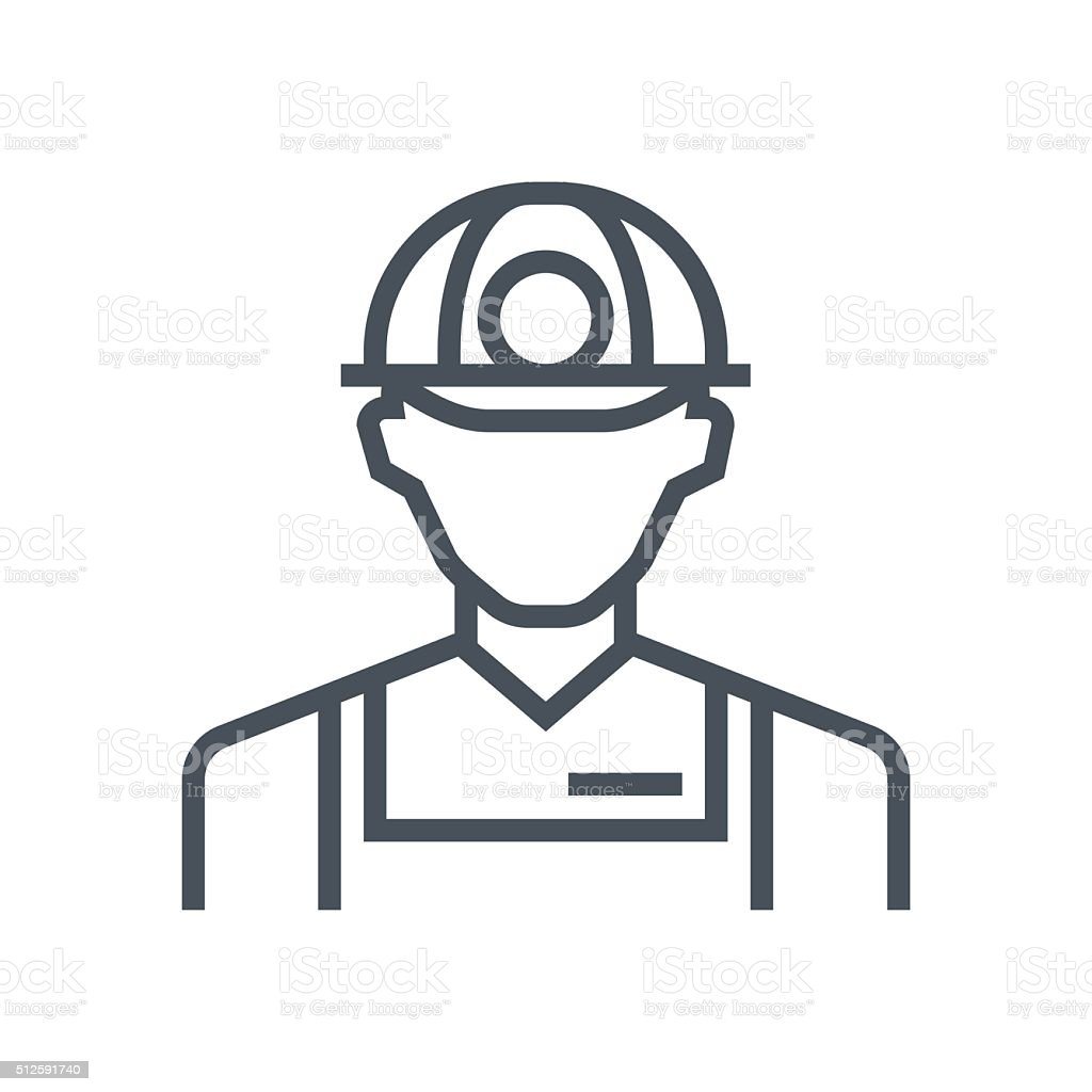 Worker icon vector art illustration