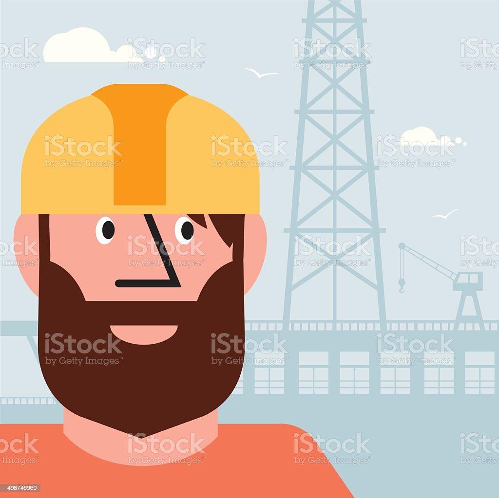 Worker Rig vector art illustration