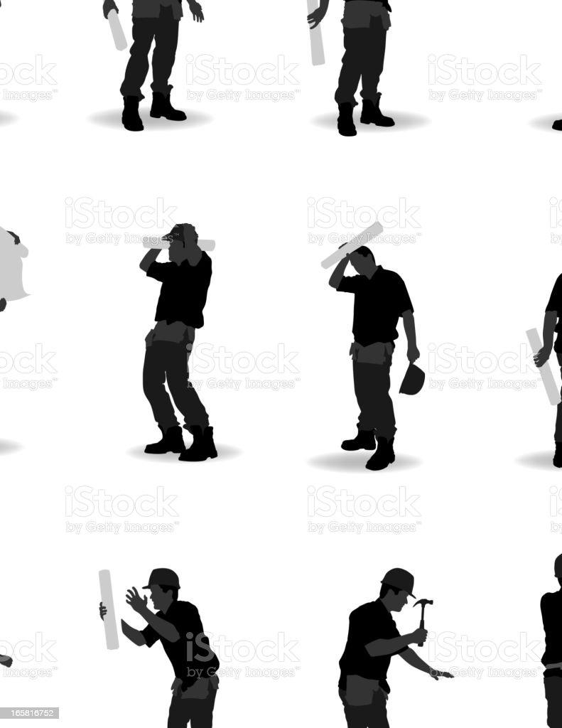 Worker vector art illustration