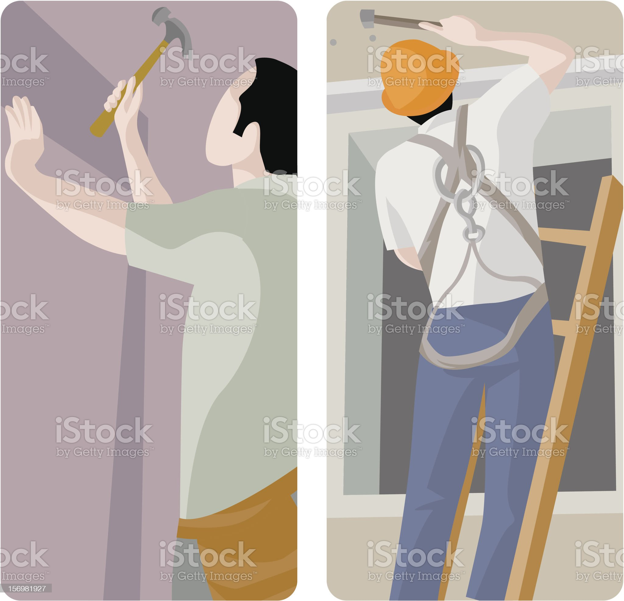 Worker Vector Illustrations Series royalty-free stock vector art