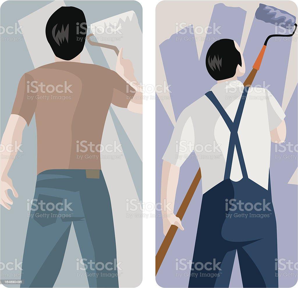 Worker Vector Illustrations Series vector art illustration