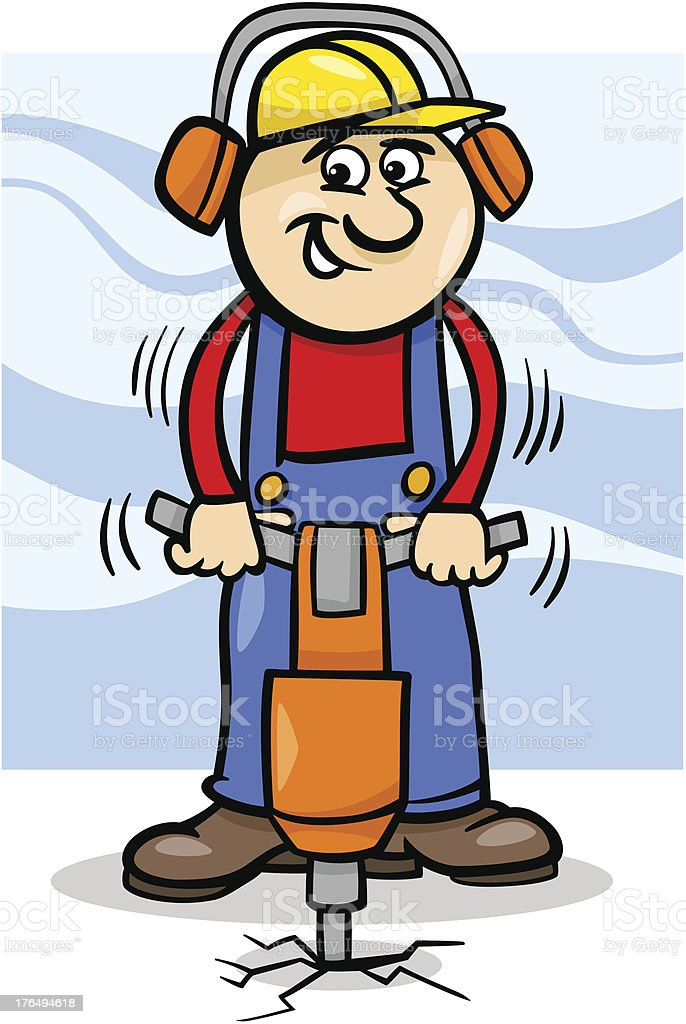 Bauarbeiter Bei Der Arbeit Comic