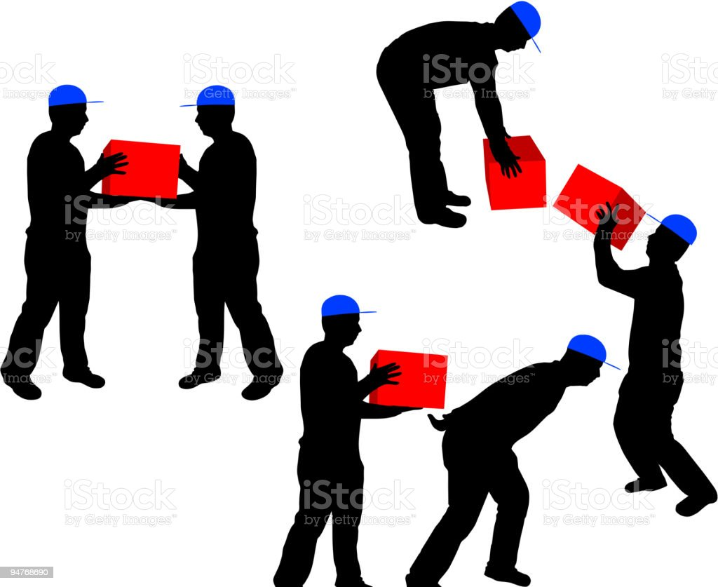 Workers at work royalty-free stock vector art