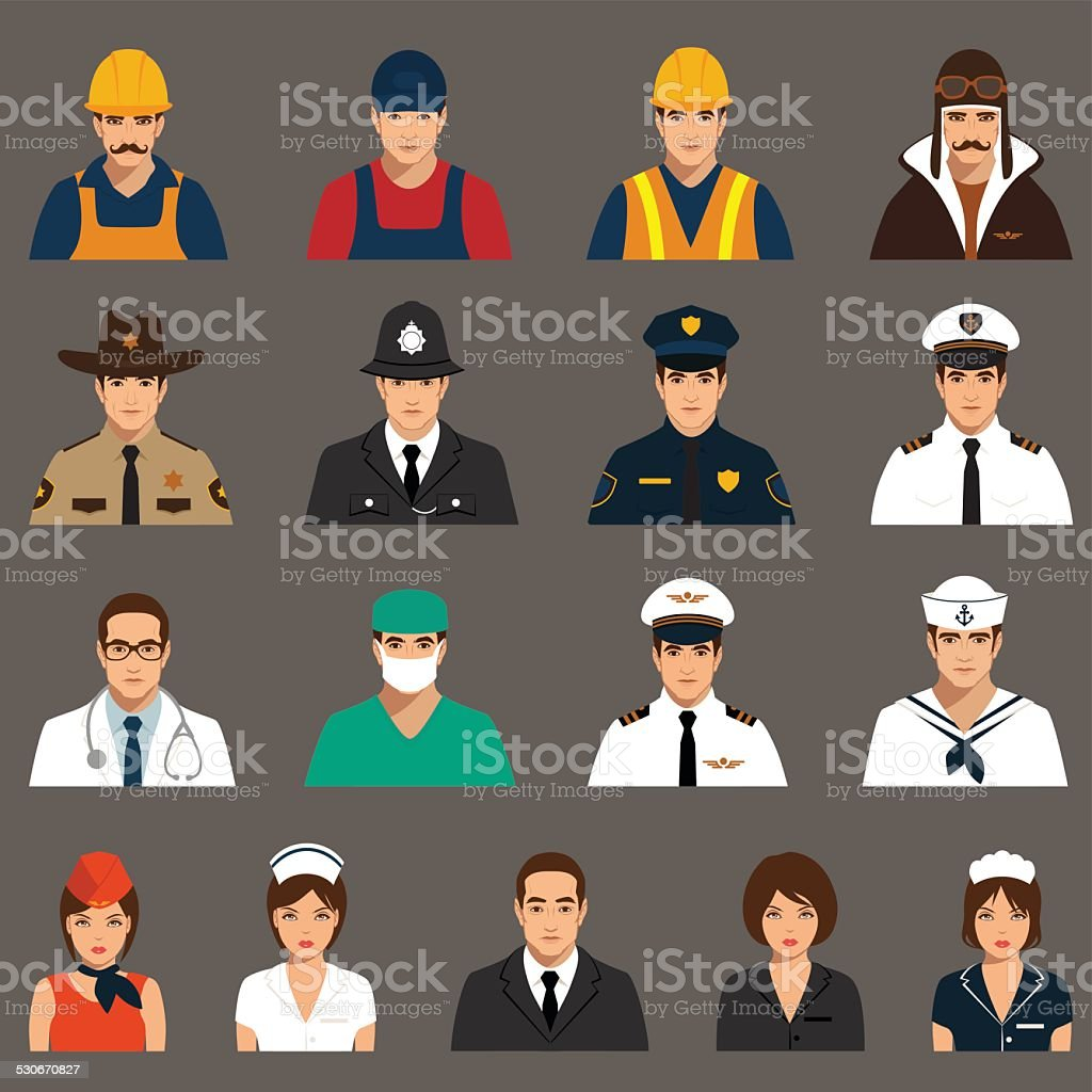 workers, profession people vector art illustration