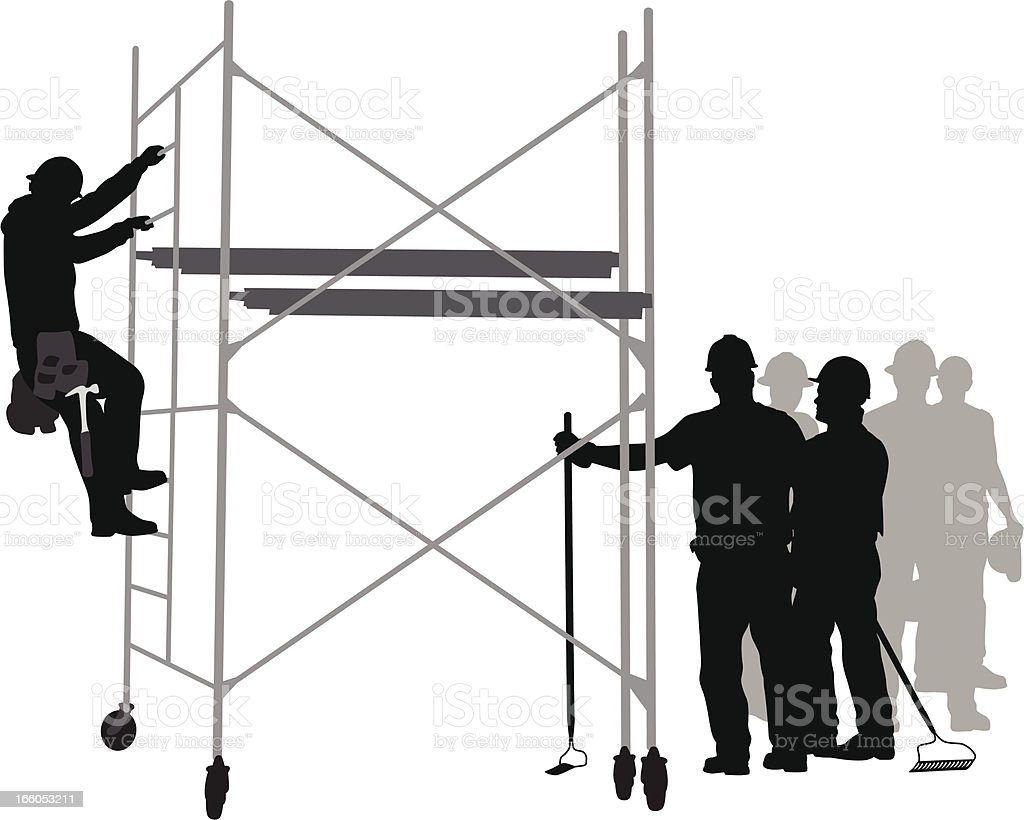 Workers Vector Silhouette royalty-free stock vector art